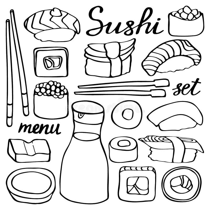 Vistoso Kawaii Sushi Para Colorear Regalo
