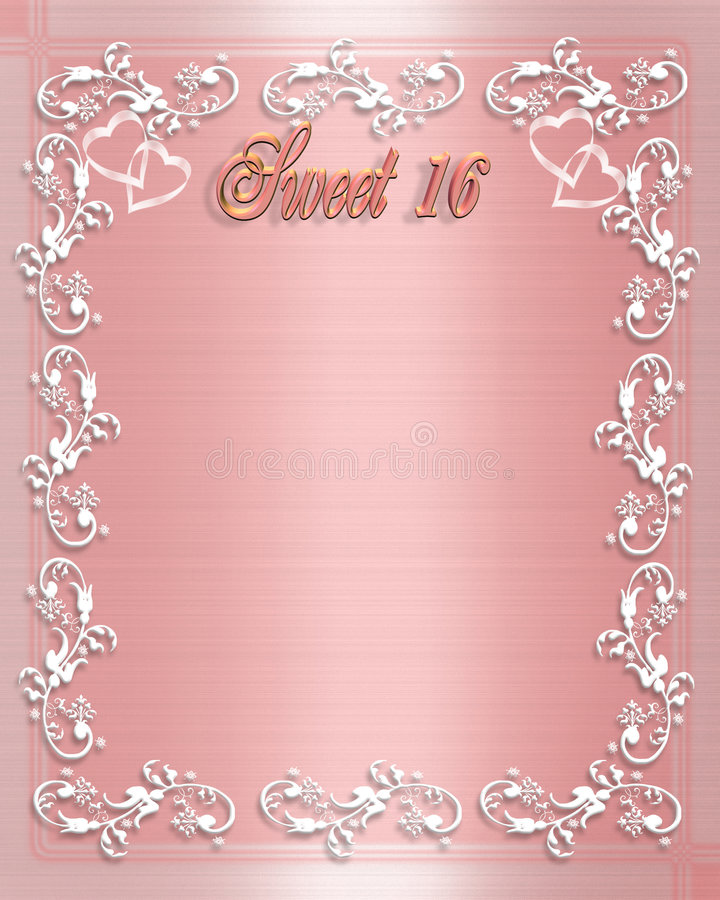 sweet 16 birthday invitation border