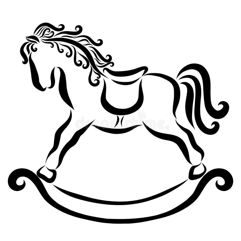 Running Baby Horse Stock Illustrations