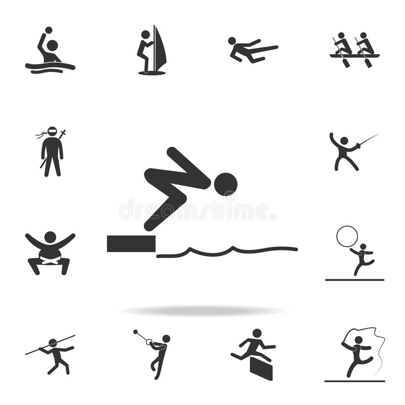 High Dive Swimmer stock vector. Illustration of drawing