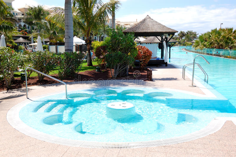 Swimming Pool With Jacuzzi At Luxury Hotel Stock Image  Image 22509831