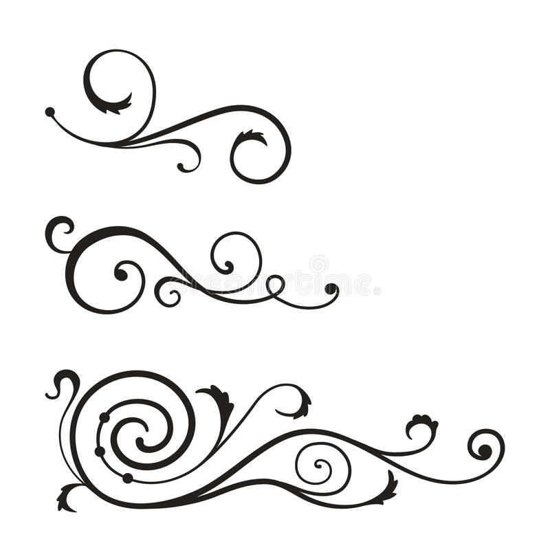 Swirl elements for design. stock vector. Illustration of