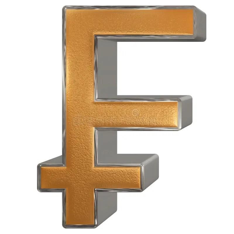 French Franc Symbol. Isolated On White Background. 3D Render Stock Illustration - Illustration of debt. bank: 134282293