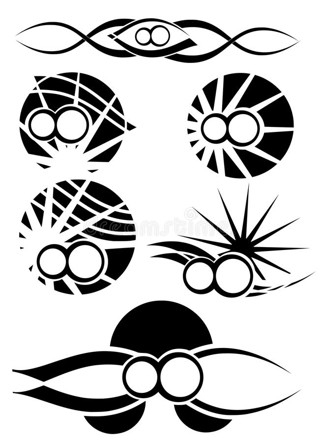 Symbol Of Infinity Tattoos Set Isolated Stock Vector