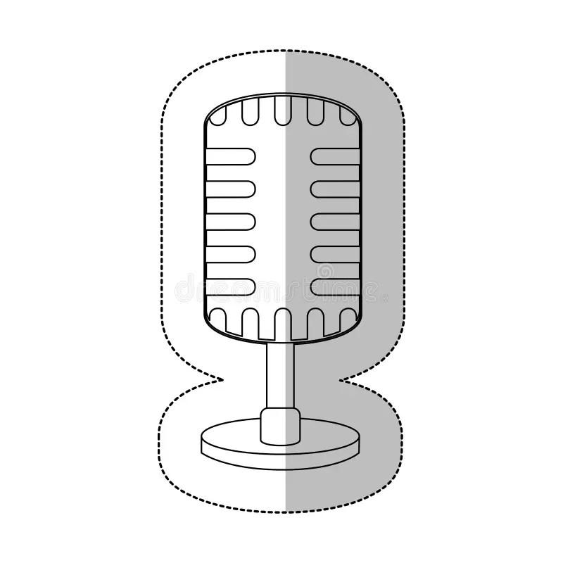 Symbol Microphone Instrument Icon Stock Illustration
