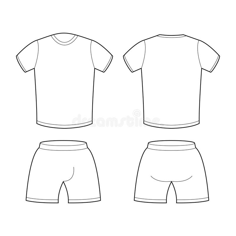 T-shirt And Shorts Template For Design. Sample For Sports