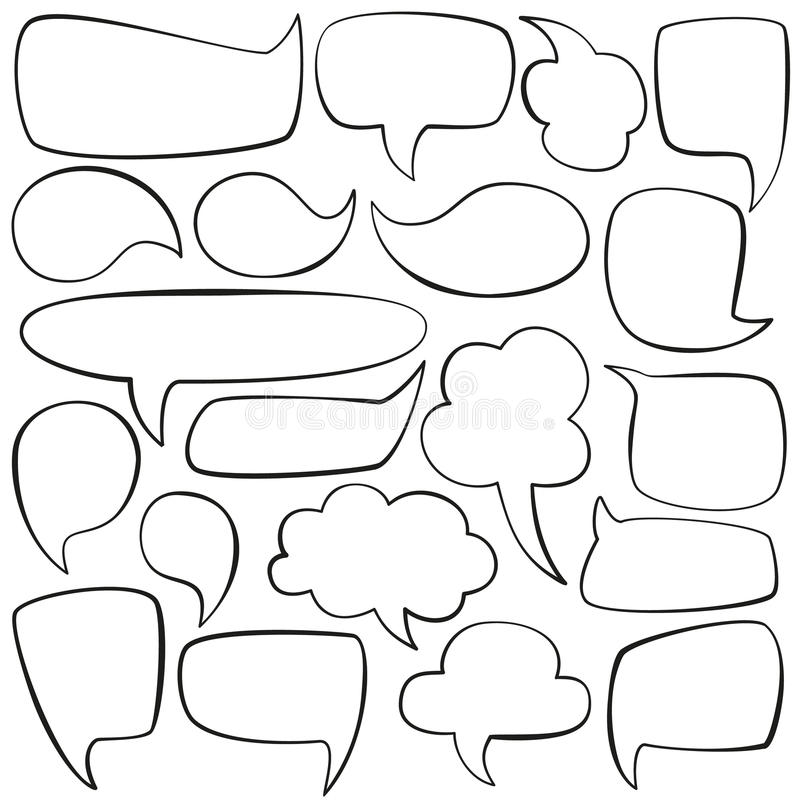 Comic Book Page With People Talking. Comic Strip