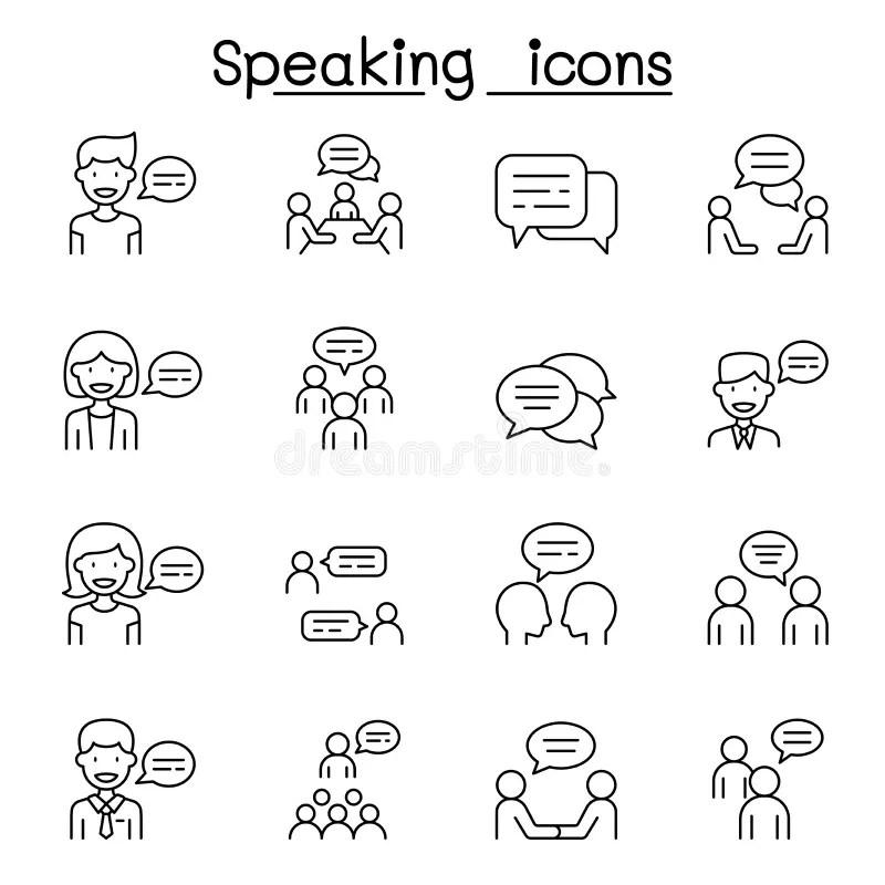 Speaking Meeting Stock Illustrations