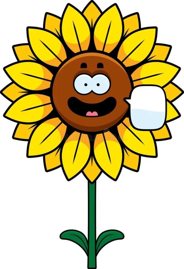 talking sunflower stock vector