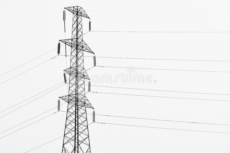 Energy pylon stock photo. Image of pollution, built, power