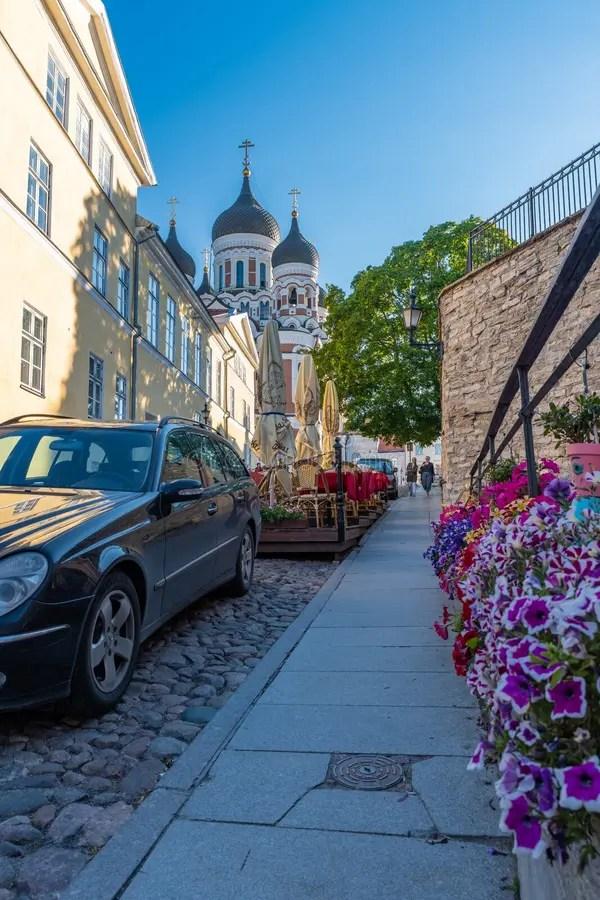 Pikk Jalg Street Long Leg In Old Town. Tallinn. Estonia Editorial Stock Photo - Image of architecture. blue: 132542613