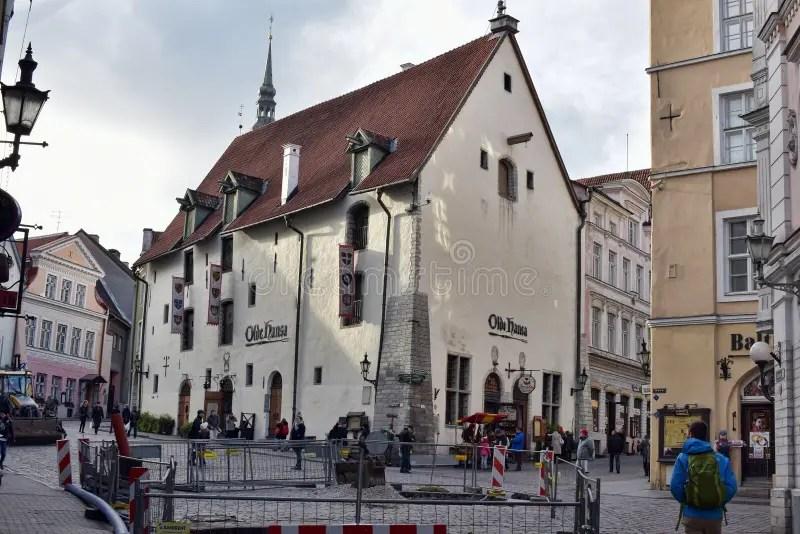 Tallinn. street long leg editorial image. Image of museum - 46007820