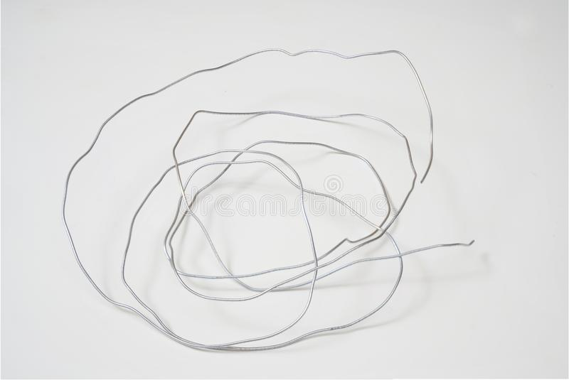 Tangled wire stock image. Image of cable, thread, tangle