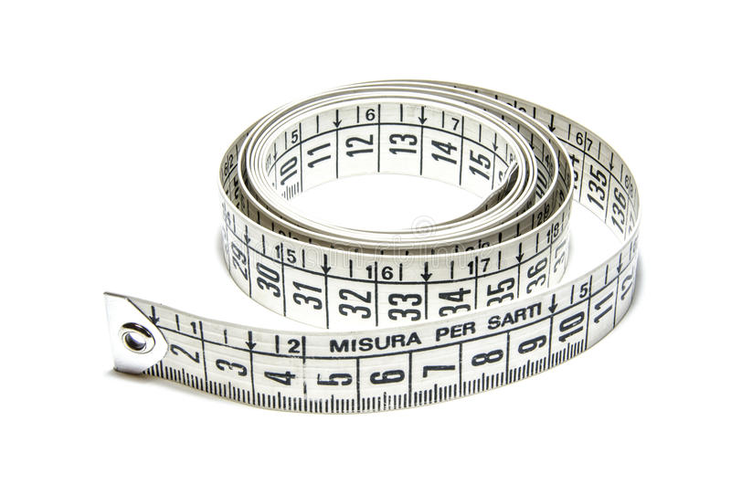 Tape measure stock image. Image of white, tailor, tape