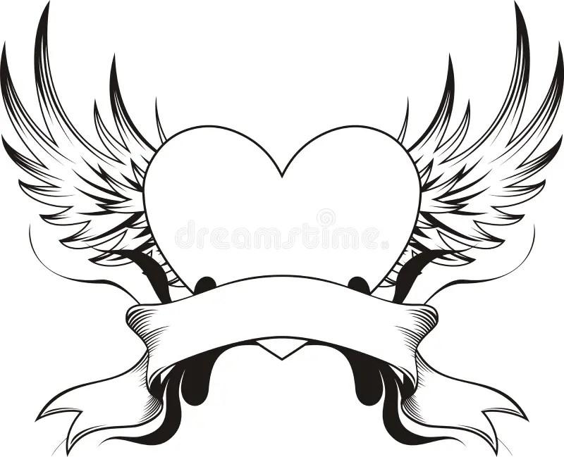 Tatuaggio del cuore illustrazione vettoriale