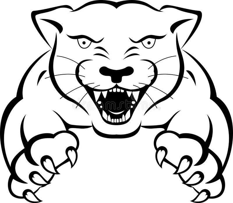 Tatuaje de la pantera stock de ilustración. Imagen de