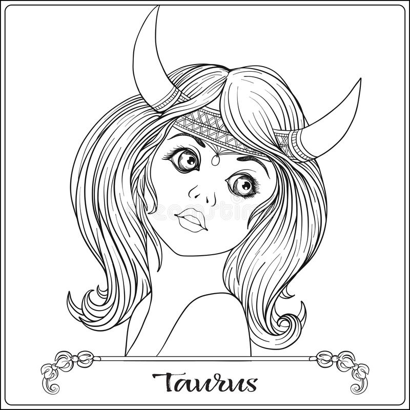 Taurus. A Young Beautiful Girl In The Form Of One Of The