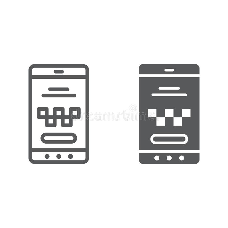 Web And Mobile Line Icon Set, Os Interface Symbols Stock