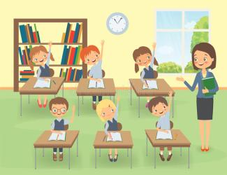 Classroom Teacher Cartoon