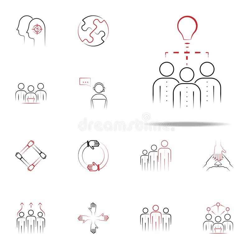 Meeting infographics set stock vector. Illustration of