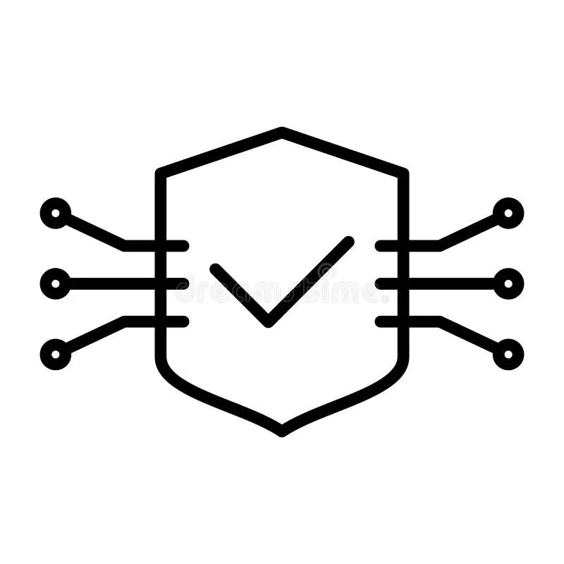 3d Shield Tech Vector Logo Design With Modern Concept