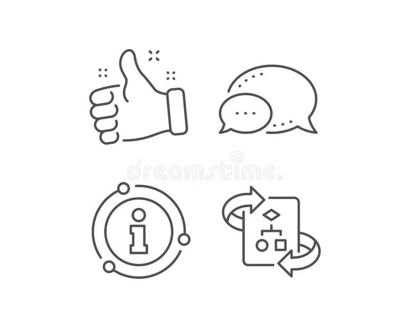 Technical Documentation Line Icons. Set Of Instruction