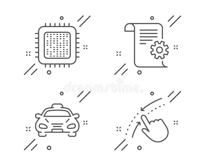 Taxi Car Sign Icon. Public Transport Symbol. Stock Vector