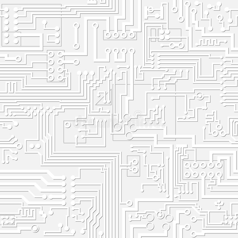 Vector Light Gray Circuit Board Pattern Stock Vector