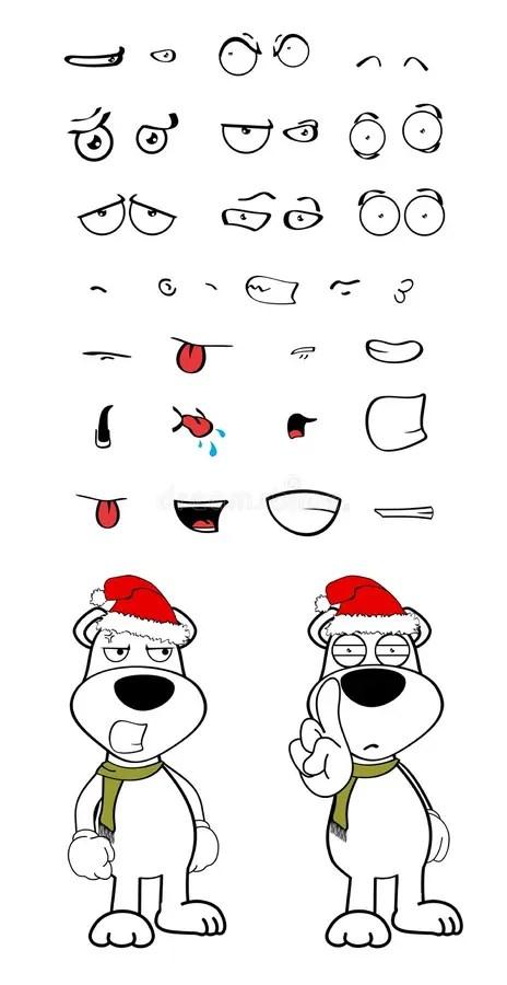 Polar Teddy Bear Cartoon Xmas Background7 Stock Vector