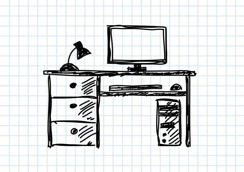 Tekening van computer vector illustratie. Illustratie
