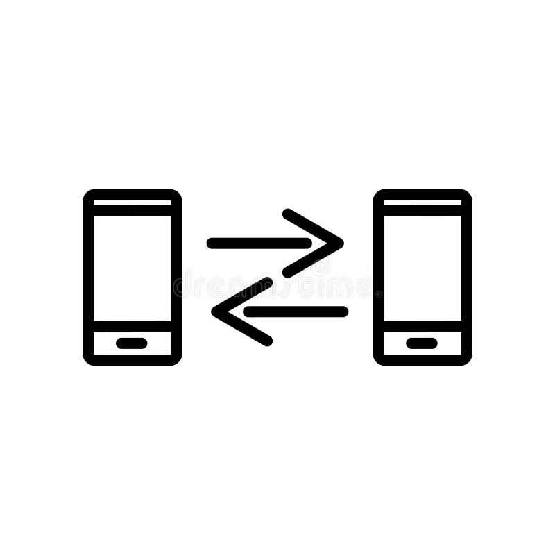 Telephone socket line icon stock vector. Illustration of