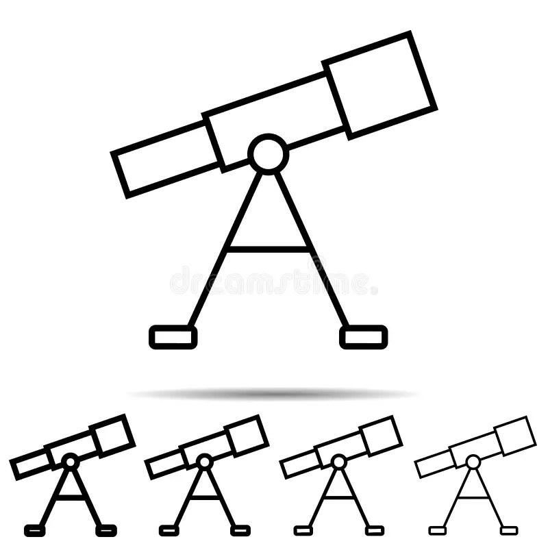 Telescope line icon stock vector. Illustration of history