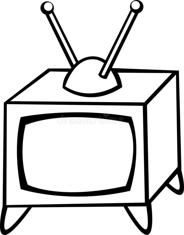 Televisione antica illustrazione vettoriale. Illustrazione