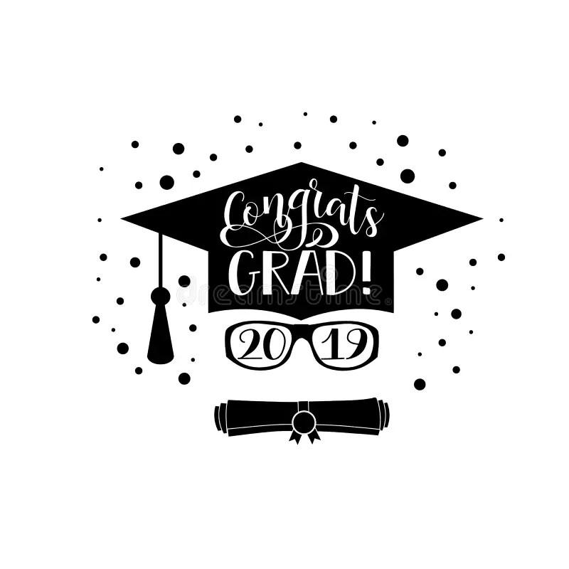 Congrats Grad 2019 Lettering. Congratulations Graduate