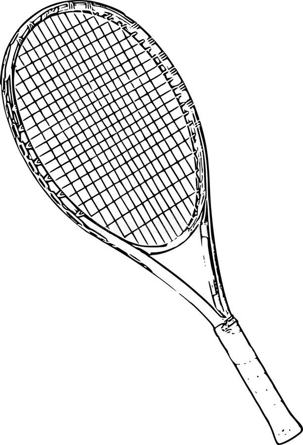 Stock Image Tennis Racket Line Art Drawing Image 47285001