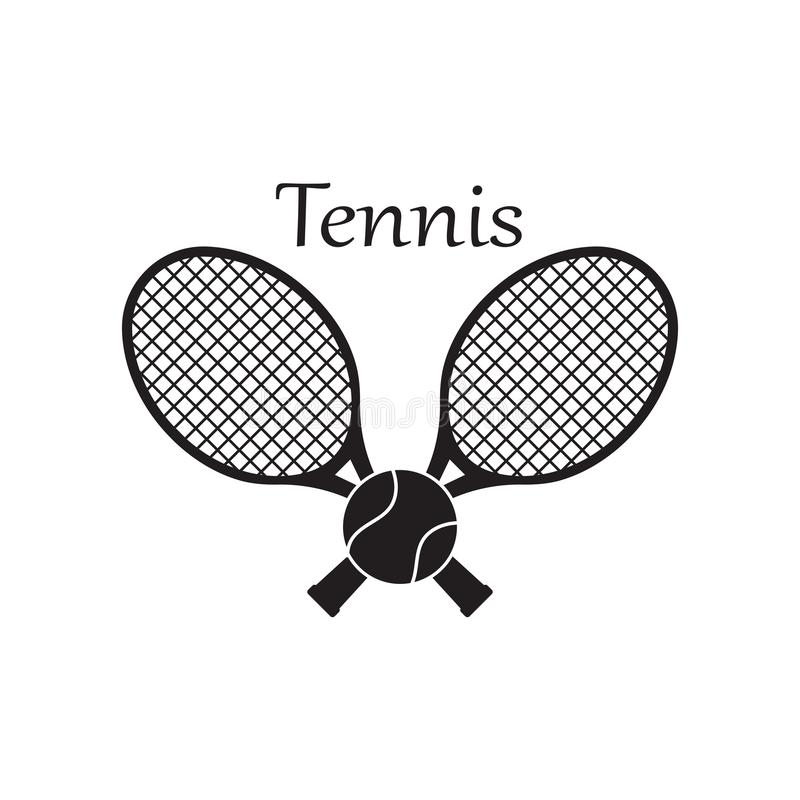 Tennis Court Template Stock Illustrations