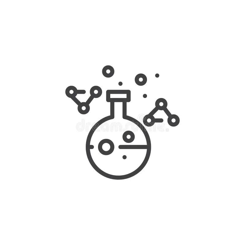 Chemical outline test tube stock vector. Illustration of