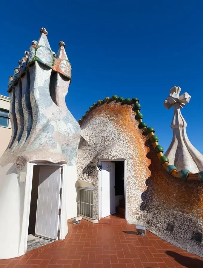 Tetto Della Casa Batllo A Barcellona Fotografia Editoriale  Immagine di casa citt 40456102