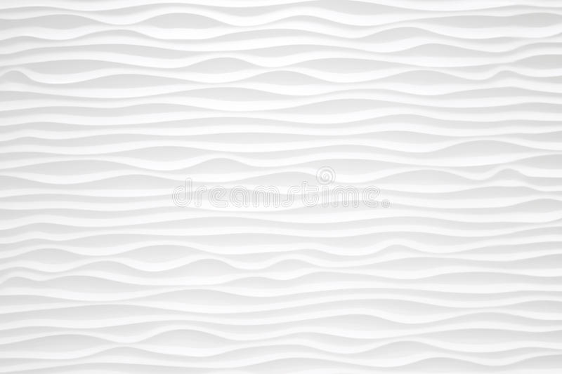 Texture Pattern Of Modern White Seamless Wave Wall For