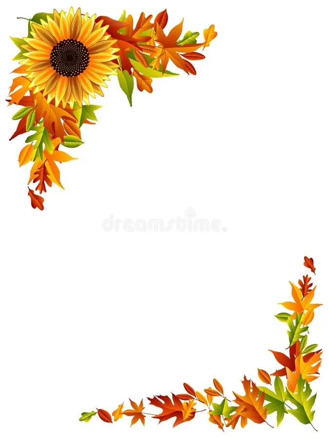 Maple Leaf Wallpaper For Fall Season Thanksgiving Border Stock Vector Illustration Of Maple
