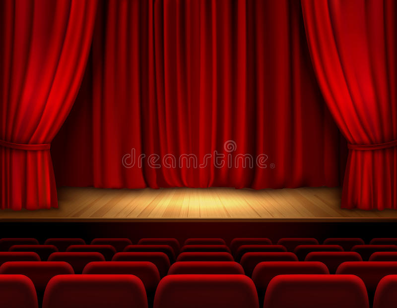 Theater Stage Background Stock Vector  Image 47033118