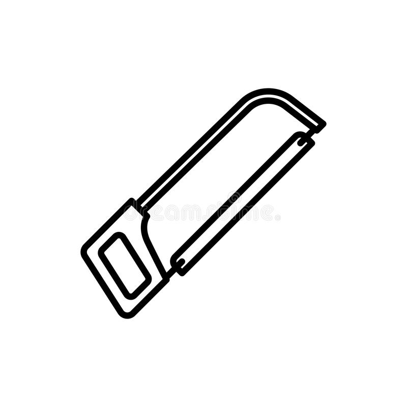 Hacksaw Icon In Trendy Design Style. Hacksaw Icon Isolated