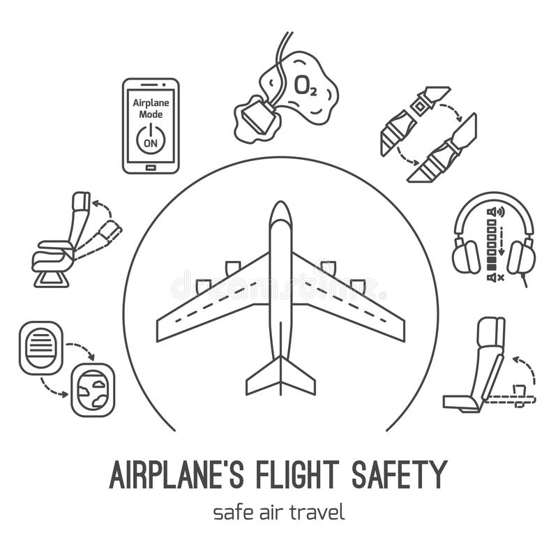Airplane Safety Stock Illustrations