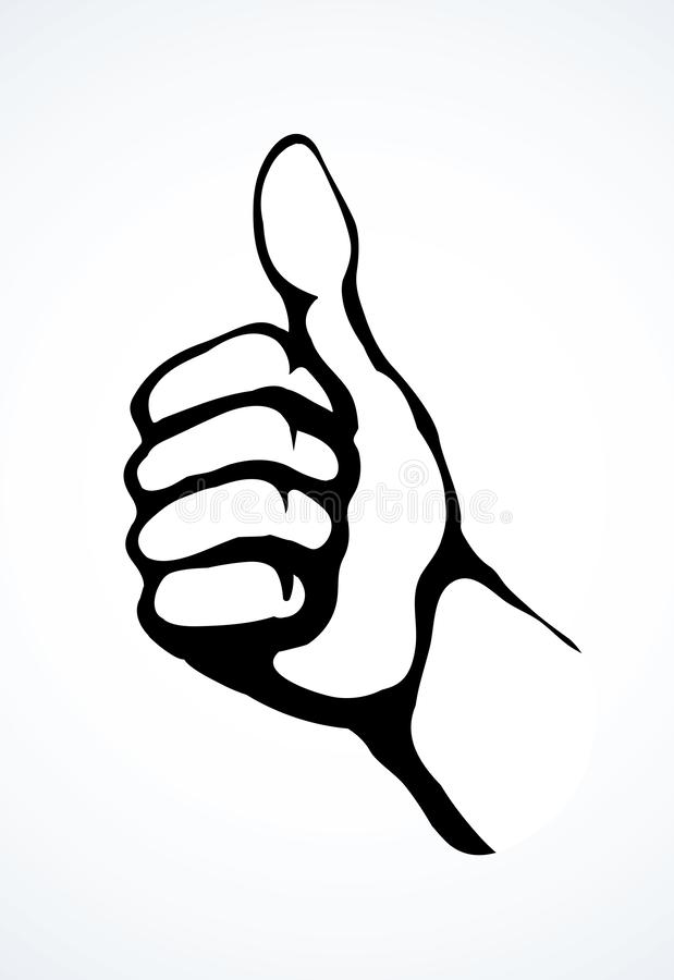 Vector Outline Of A Man Pointing His Hand At Something