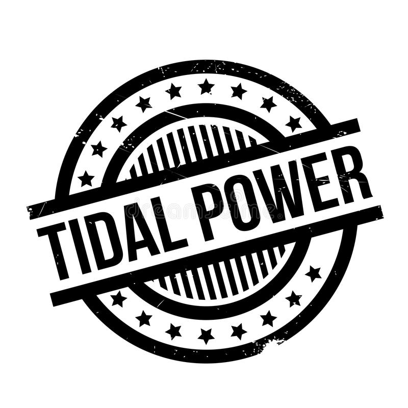 Tidal Power rubber stamp stock illustration. Illustration