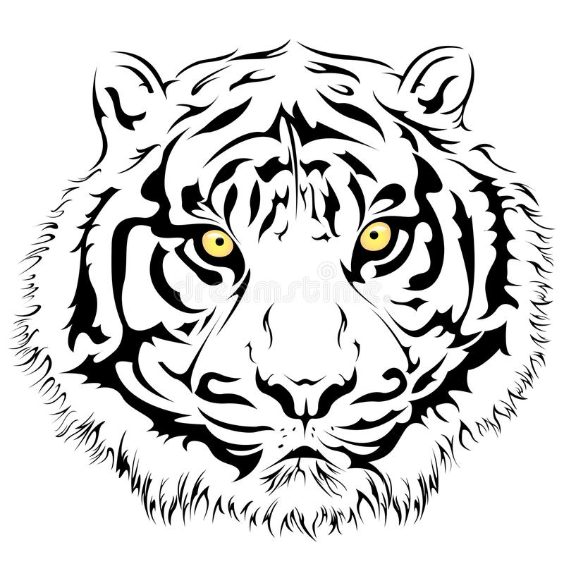 Tiger Face, Vector stock vector. Illustration of element