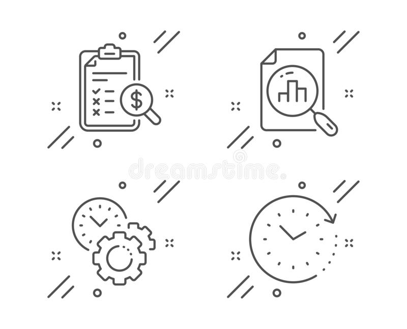 Accounting Icons. Document Storage In Folders Stock Vector