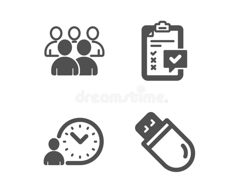 Usb Stick Sign Icon. Usb Flash Drive Button. Stock Vector