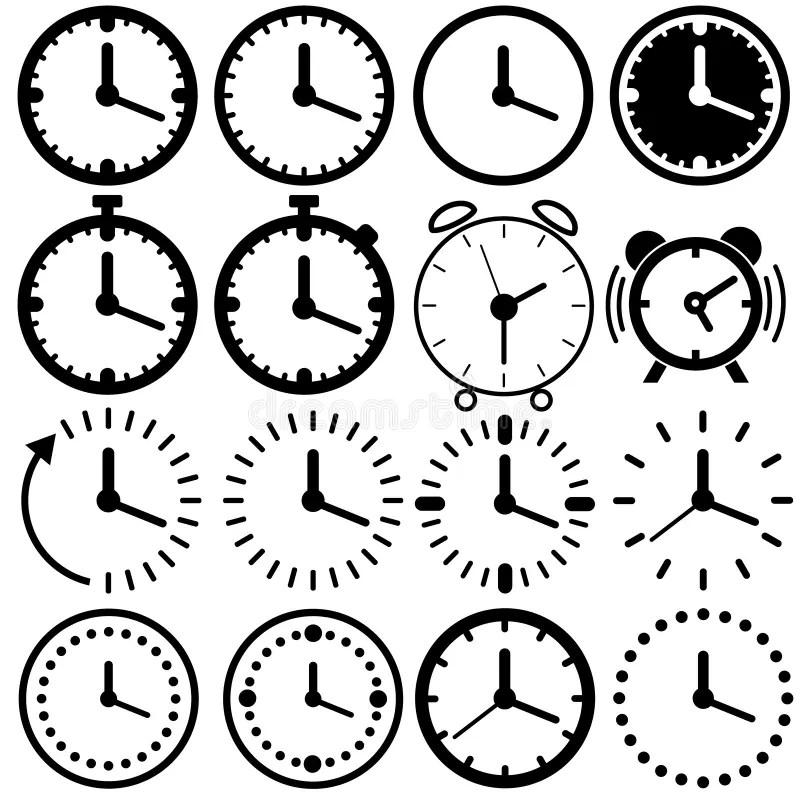 Time Icon Set stock illustration. Illustration of minute