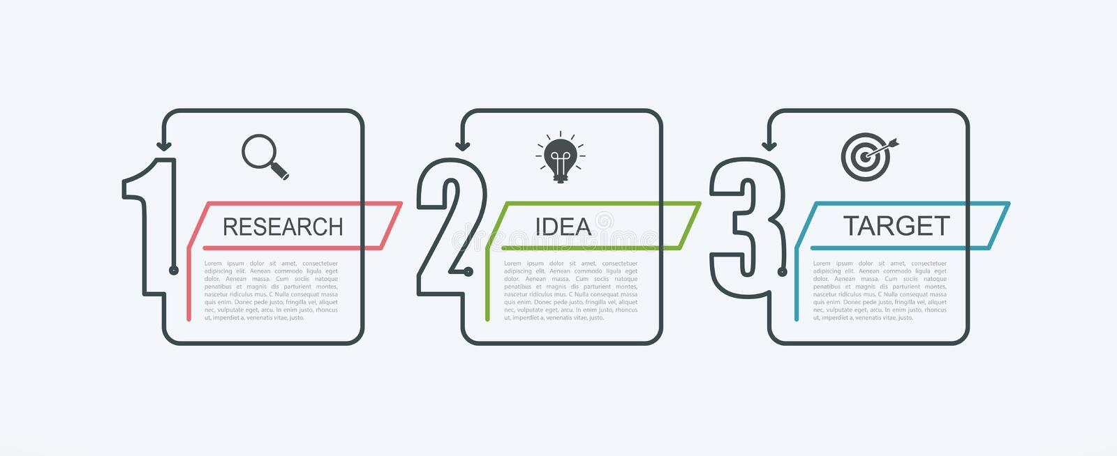 Infographic Design Template With Step Structure Up Arrow